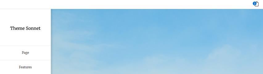 Sidebar Header WooCommerce Bag Icon.
