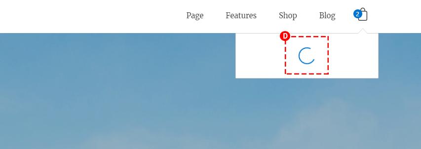 WooCommerce Bag View Content Area Preloader