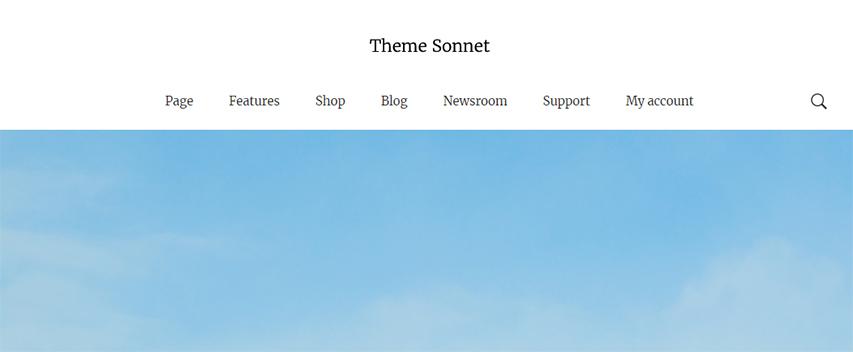 The Desktop Main Menu Search Icon for in the Desktop header version 2.